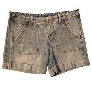 A/X Armani Exchange sz 2 ladies blue jean shorts.